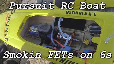 pursuit rc boat smokin fets on 6s youtube - Pursuit Rc Boat 6s