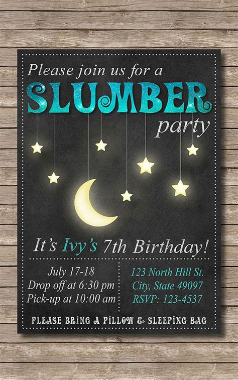 13 creative slumber party invitation templates designs