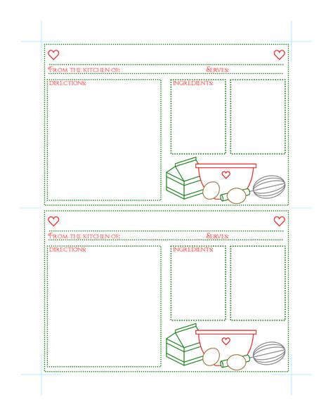 recipe calendar template search results for recipe card template page