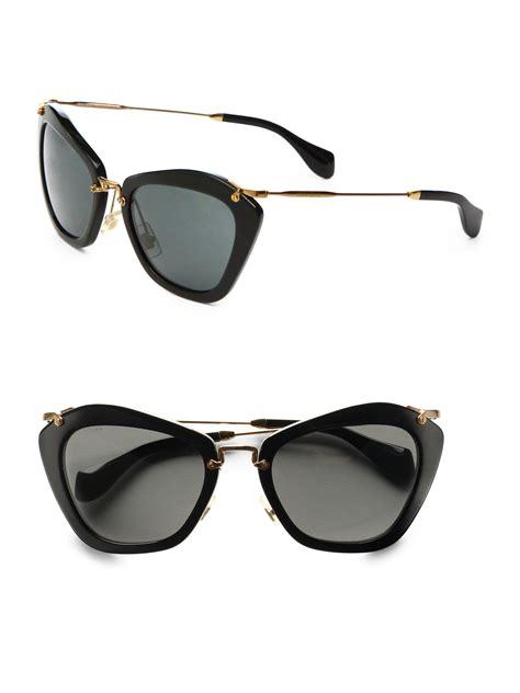 Kacamata Gaya Fashion Branded Sunglasses Miu Miu miu miu cat eye sunglasses pink louisiana brigade