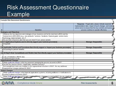 audit risk assessment questionnaire template templates resume examples jeggqpgqo