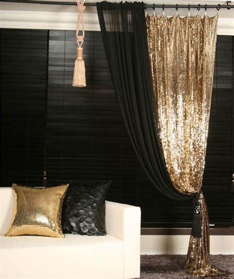 black gold curtains gold sequins beaded curtain drapery panel room divider