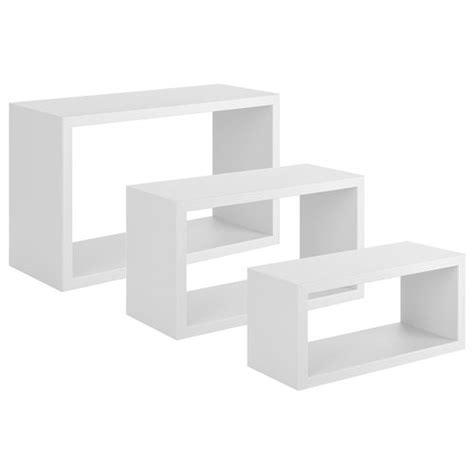 sanitec 51602 mensola set 3 mensole cubo rettangolari 45