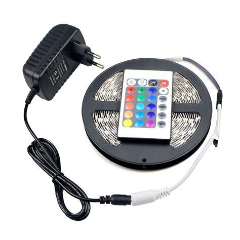 Rgb Led Light Controller 24 Key no waterproof 5m rgb led ribbon light 5050 smd 24 key remote controller dc12v 3a