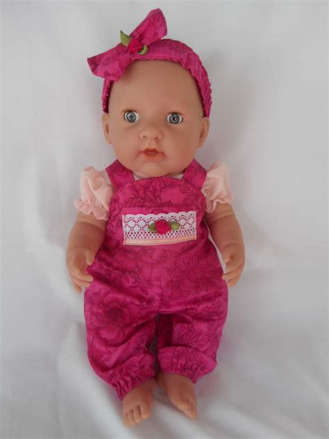 Handmade Dolls Clothes - handmade dolls clothes overalls top headband to suit