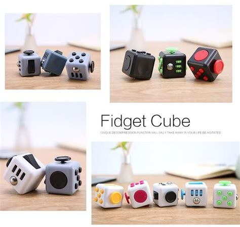 Keychain Fidget Combo Spinner And Cube New Design Edc Finger groopdealz fidget cubes 3 colors