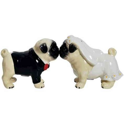 Pug Dogs Wedding Cake Topper   Wedding Collectibles
