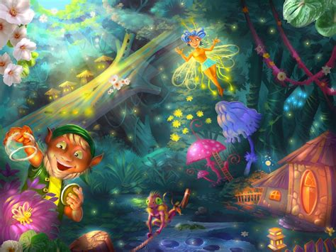 Tinkerbell Wall Mural enchanted forest jigsaw puzzle in kids puzzles puzzles on