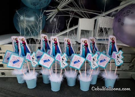 frozen table centerpieces frozen disney cebu balloons and supplies