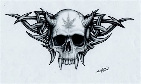 marijuana skull by emilierowe on deviantart