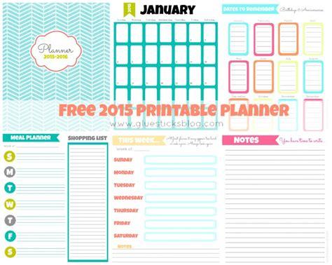 Kitchen Planner Free free printable 2015 planner gluesticks