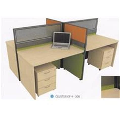 X Office Table Meja Komputer Industrial cluster of 4 pax office table works end 12 9 2016 10 33 am
