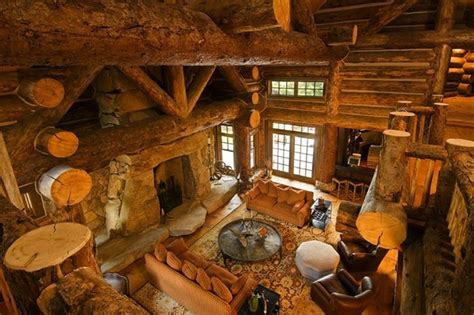 awesome log home interior interior log home open floor living room log cabins pinterest