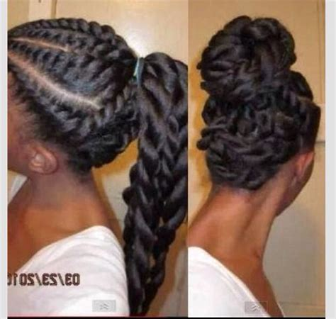 show me ponytail hairstyles large inside cornrows hair styles cuts pinterest