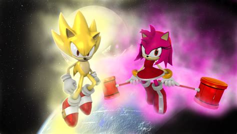 supersonic x amy super sonic and super amy by nictrain123 on deviantart