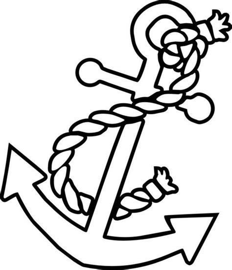 Bathroom Stencil Ideas Free Color Pages Anchors Anchor Coloring Picture Kids