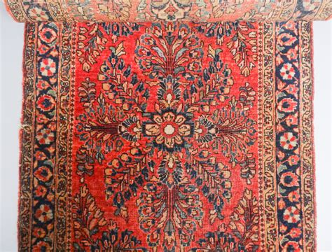 Floral Runner Rug Antique Early 20c Middle Eastern Painted Field Floral Runner Rug 115 X 30 5 Quot Ebay