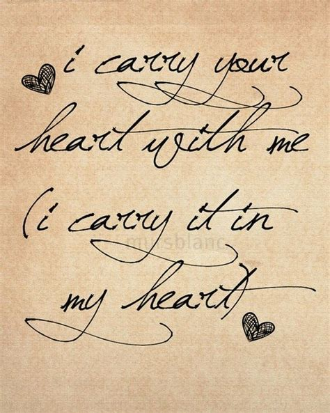 i carry your heart tattoo i carry your with me i the poem is about