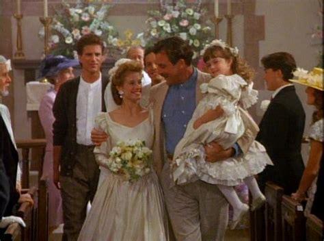 Three Men and a Lady wedding scene   Wedding Dresses in