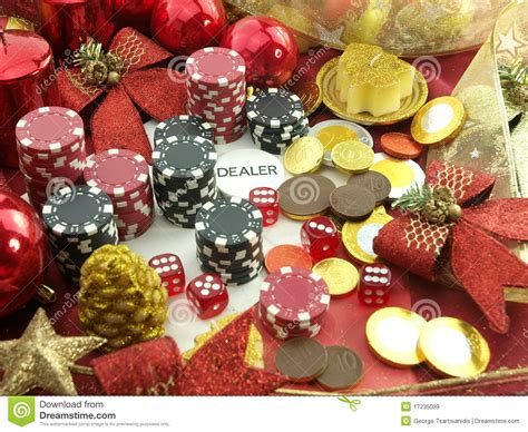 christmas casino background royalty free stock images