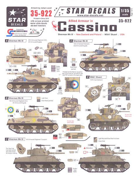 Star Decals 1/35 ALLIED ARMOR IN CASSINO Sherman Mk.III ... Ww2 Sherman Tanks For Sale