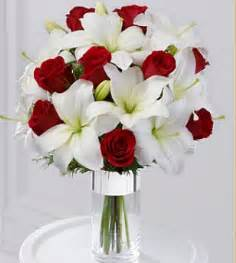 roses and lilies silver tidings bouquet with roses and white lilies png 2 comments