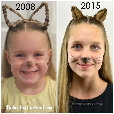 Find A Hairstyle Using Your Own Picture | cat ears using your own hair 2 halloween hairstyle