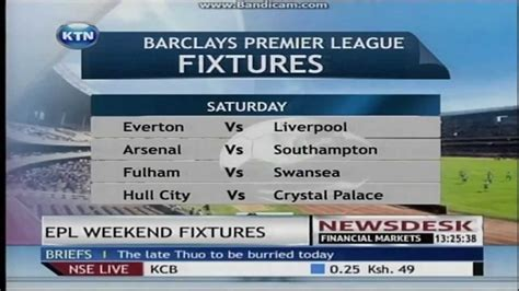 Epl Weekend Fixtures | epl weekend fixtures youtube