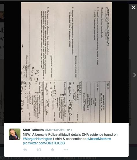 Dna Search Warrant Leaked Search Warrant Reveals Dna Link In Harrington Casec Ville Weekly