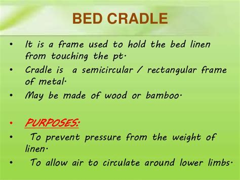 bed cradle definition comfort devices