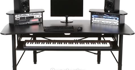 Studio Desk With Keyboard Drawer by Production Desk With Rolling Tray For 88 Key