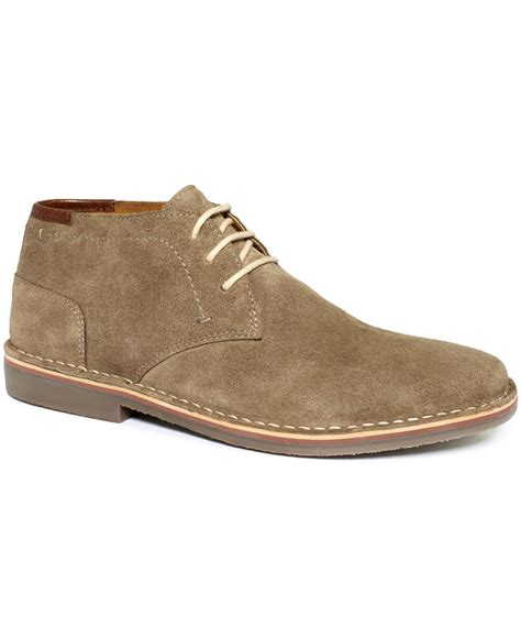 kenneth cole reaction desert sun suede chukkas in brown