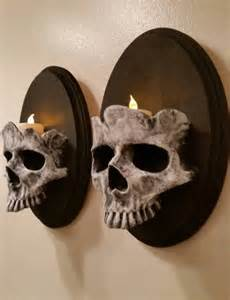 Weird Lamps skull wall sconces