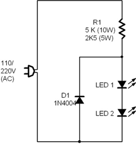 Resistor 220 Paket Isi 10 eletr 212 nica gt gt circuitos gt gt montagens led em 110 220v