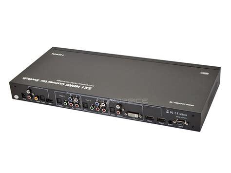 Hdmi Switch Hdmi Converter monoprice 8146 5x1 hdmi converter switch hdmi dvi component coaxial to hdmi ebay