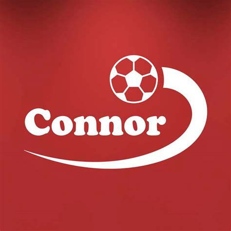 football bedroom stickers personalised boys name football wall sticker sport
