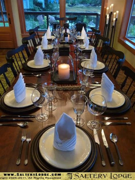 Formal Dining Table Setting 17 Best Images About Table Setting On Pinterest Restaurant Church And Place Settings