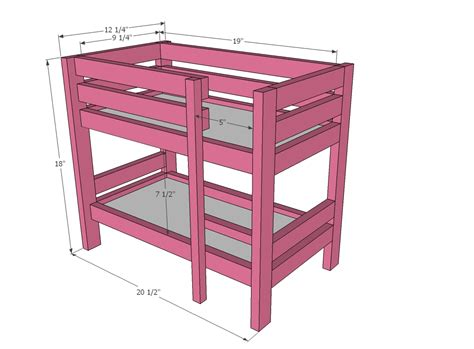 18 inch doll bunk bed 18 inch doll loft bed plans pdf woodworking