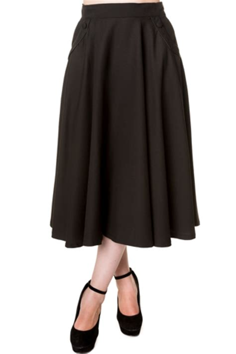 black swing skirt banned vintage style gracie swing skirt black vintage