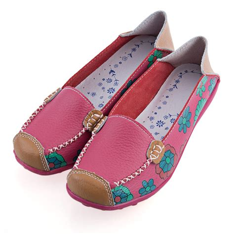 Patchwork Womens - new ballet flats casual floral print patchwork