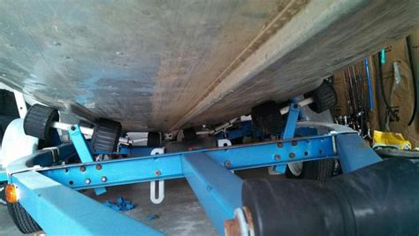 how to fit boat trailer rollers how to change rollers into bunks or rearrange rollers to