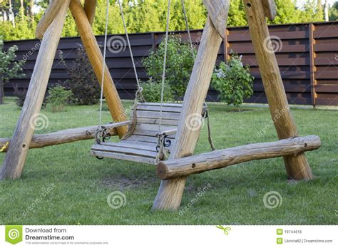 wooden bench swing kits wooden swing bench stock photo image of summer gardn