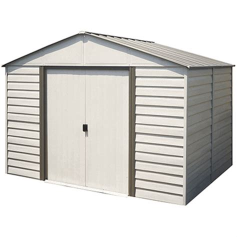 Vinyl Shed 10 X 12 by Arrow Milford 10 X 12 Vinyl Coated Storage Shed
