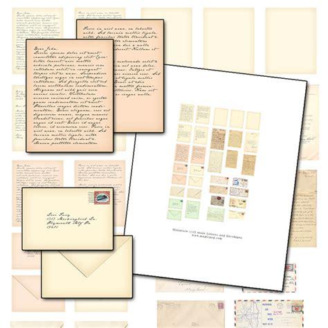 printable letters etsy miniature dollhouse printable letter digital collage sheet