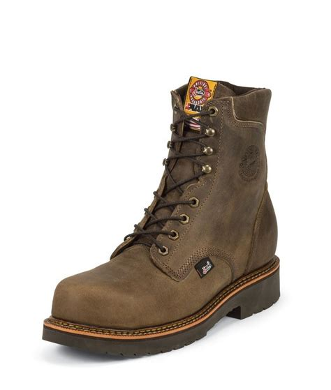 justin original work boots justin original work j max 491 mens 8 quot composition safety
