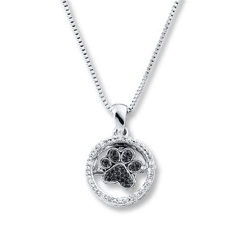 paw necklace diamonds in rhythm paw print necklace sterling silver