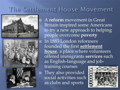 settlement house movement ppt new immigrants powerpoint presentation id 2962947