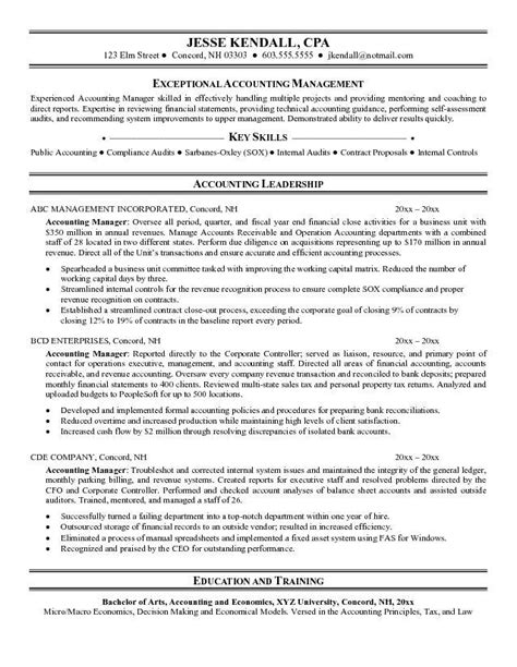resume sles for accounting 28 images accounting resume