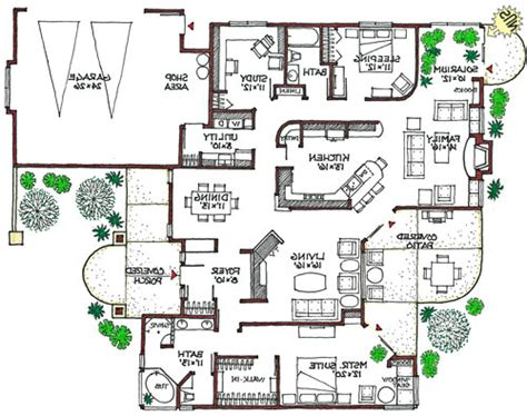 MEDITERRANEAN  Eco Friendly Home Green House Plan