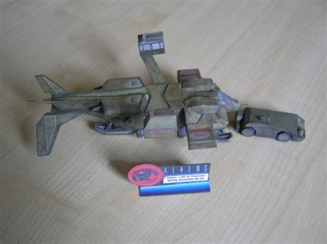 Aliens Papercraft - dropship 01 cheyenne from aliens in 1 200 papermodelers